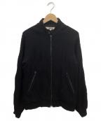 FACTOTUM(ファクトタム)の古着「ジップアップニットジャケット」|ブラック