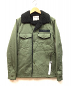 SABLE CLUTCH(セーブルクラッチ)の古着「ミリタリーシャツボアジャケット」|カーキ×ブラック
