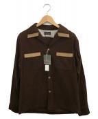 Dry bones(ドライボーンズ)の古着「オープンカラーコーデュロイシャツ」 ブラウン