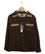 Dry bones(ドライボーンズ)の古着「オープンカラーコーデュロイシャツ」|ブラウン