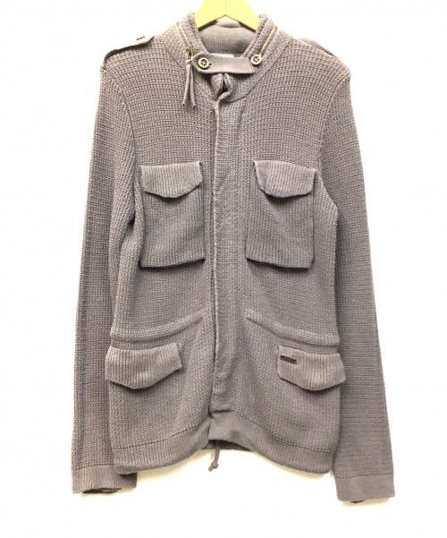 BARK(バーク)BARK (バーク) M-65タイプニットジャケット チャコールグレー サイズ:Sの古着・服飾アイテム