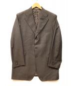 TAGLIATORE NAPOLI(タリアトーレ)の古着「3Bテーラードジャケット」 ブラウン