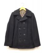 Schott(ショット)の古着「レオパードライナーメルトンPコート」|ブラック