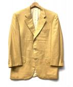 CORNELIANI(コルネリアーニ)の古着「カシミヤジャケット」|イエロー×ベージュ