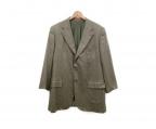 ISAIA(イザイア)の古着「カシミヤブレンド3Bジャケット」 オリーブ