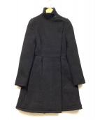 MIU MIU(ミュウミュウ)の古着「アンゴラブレンドバージンウールコート」|ブラック