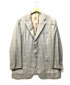 Ermenegildo Zegna(エルメネジルドゼニア)の古着「ウール/シルク3Bジャケット」 グレー