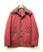 KENT&CURWEN(ケント&カーウェン)の古着「ウールキルティングコート」|レッド×ブラウン