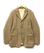 Ermenegildo Zegna(エルメネジルドゼニア)の古着「裏フリース3Bジャケット」 ベージュ