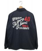 VAN JAC(ヴァンジャケット)の古着「フリースライナー付コーチジャケット」|ネイビー