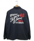 VAN JAC(ヴァンジャック)の古着「フリースライナー付コーチジャケット」|ネイビー