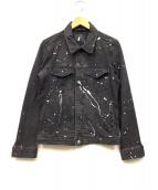 nano・universe(ナノユニバース)の古着「スプラッシュペイントデニムジャケット」|ブラック