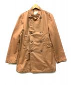 ZUCCA TRAVAIL(ズッカ)の古着「コットントレンチコート」|ブラウン