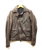 AMERICAN RAG CIE(アメリカンラグシー)の古着「カウレザーライダースジャケット」|ブラウン