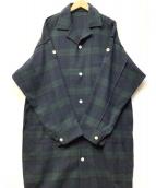 PHINGERIN(フィンガリン)の古着「パジャマコート」|グリーン×ネイビー