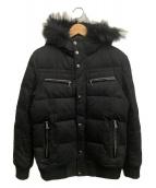 BURBERRY BLACK LABEL(バーバリーブラックレーベル)の古着「フーデットダウンジャケット」|ブラック
