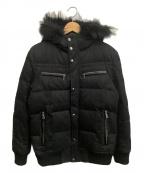 BURBERRY BLACK LABEL()の古着「フーデットダウンジャケット」 ブラック