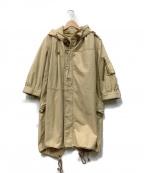 The Dress&Co. HIDEAKI SAKAGUCH(ザ ドレスアンドコー ヒデアキサカグチ)の古着「モッズコート」|ベージュ