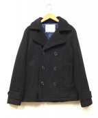 DOWBL(ダブル)の古着「メルトンPコート」|ブラック
