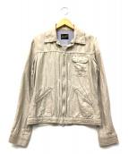 Wrangler(ラングラー)の古着「綿麻HBジップアップジャケット」|ベージュ