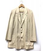 PAPAS(パパス)の古着「3Bテーラードジャケット」 ベージュ