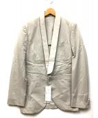Kemit(ケミット)の古着「ショールカラージャケット」 ライトグレー