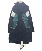 KAPPA(カッパ)の古着「ウィンドフーデッドジャケット」|ブラック×グリーン×ホワイト