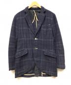 EEL(イール)の古着「ウールテーラードジャケット」 ネイビー