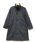 HOUSTON(ヒューストン)の古着「コットン/ナイロンコート」 ブラック
