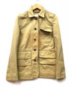 ()の古着「後染ミリタリージャケット」|ベージュ