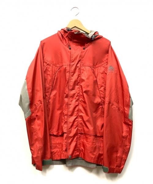 NIKE ACG(ナイキエーシージー)NIKE ACG (ナイキエーシージー) ナイロンジャケット レッド×グレー サイズ:Lの古着・服飾アイテム