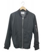 STUDIOUS(ステュディオス)の古着「ドレープMA-1ジャケット」|ブラック
