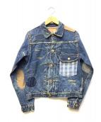 WAREHOUSE(ウェアハウス)の古着「Blue-Grayリメイク1stデニムジャケット」