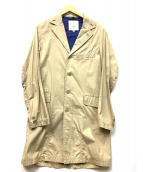 FIDELITY(フィデリティ)の古着「コットンステンカラーコート」|ベージュ
