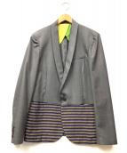 10A(テンエー)の古着「切替ショールカラージャケット」 グレー×ネイビー