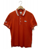 LACOSTE×ROLAND GARROS(ラコステ×ローランギャロス)の古着「ポロシャツ」|オレンジ