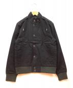 SHADES of GREIGE(シェイズオブグレイ)の古着「スタンドカラージャケット」 ブラック