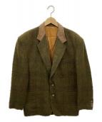 Henry Cottons(ヘンリーコットンズ)の古着「カラー切替ツイードジャケット」|カーキ×ブラウン