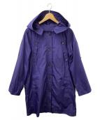 AMACA(アマカ)の古着「フーデッドナイロンコート」|ブルー
