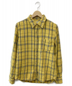 REMI RELIEF(レミレリーフ)の古着「チェックシャツ」|イエロー×ブルー