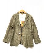 melple(メイプル)の古着「コンチョ釦コットン×ウールジャケット」 オリーブ