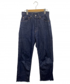 LEVI'S VINTAGE CLOTHING(リーバイスヴィンテージクロージング)の古着「50's復刻リジットジーンズ」|ネイビー