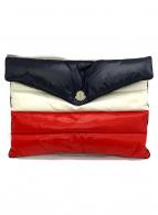 MONCLER(モンクレール)の古着「ダウンクラッチバッグ」|トリコロールカラー