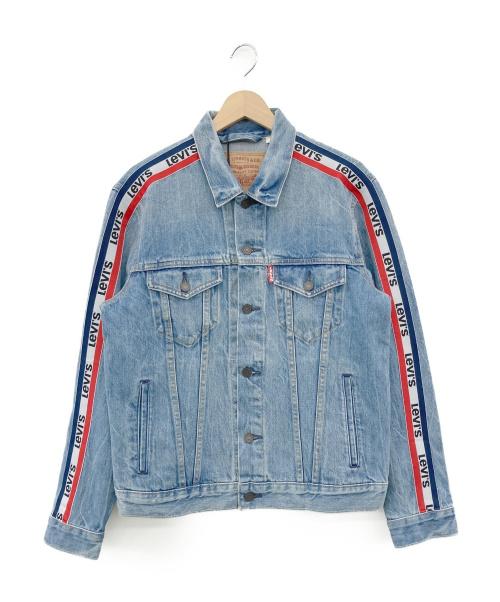 LEVI'S(リーバイス)LEVI'S (リーバイス) サイドロゴトラッカージャケット インディゴ×トリコロールカラー サイズ:M(US) / L(JP)の古着・服飾アイテム