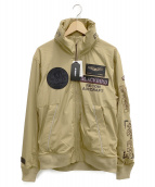 AVIREX(アビレックス)の古着「ブラックバードスタンドジップジャケット」|ベージュ