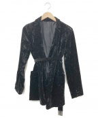ROPE mademoiselle(ロペマドモアゼル)の古着「クラッシュベロアジャケット」 ブラック