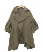 KAPITAL(キャピタル)の古着「変形ウールコート」|カーキ