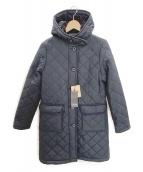 Traditional Weatherwear(トラディショナル ウェザーウェア)の古着「フーデッドキルティングコート」|ネイビー