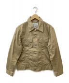 LEVI'S(リーバイス)の古着「3rdタイプスリムトラッカージャケット」|ベージュ
