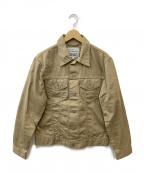 LEVI'S(リーバイス)の古着「3rdタイプスリムトラッカージャケット」 ベージュ